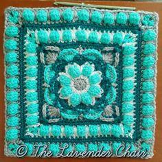 Wildflower Mandala Square - Free Crochet Pattern - The Lavender Chair (13)