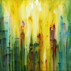 [Urban Mist Abstract Painting, james lucas]