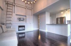 Toronto Lofts, Lofts For Rent, High Windows, Gas Bbq, Living Room Shelves, Art Deco Buildings, Window Wall, Workout Rooms, Building Design