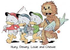 Huey, Dewie, Louie and now... Chewie (Star Wars Disney)