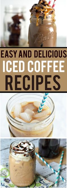 Iced Coffee Recipes are more fun to make yourself with your own mix of flavors.
