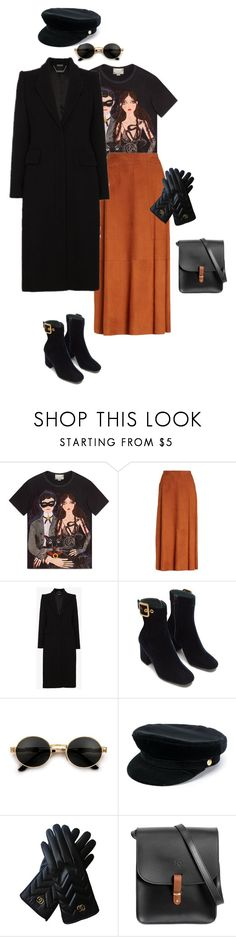 """""""Long Road"""" by eugenia-hovor on Polyvore featuring мода, Gucci, Lafayette 148 New York, Alexander McQueen, Manokhi, N'Damus, Winter и gucci"""