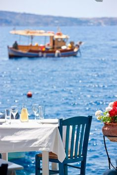 Your table is waiting.... Where are you? Maybe a vacation in Greece this year?? We can help, #archaeologous.com for private tours.