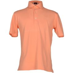 Avon Celli 1922 Polo Shirt ($135) ❤ liked on Polyvore featuring men's fashion, men's clothing, men's shirts, men's polos, salmon pink, mens pink polo shirt, mens short sleeve shirts, men's cotton polo shirts, mens pink short sleeve dress shirt and mens pink shirts