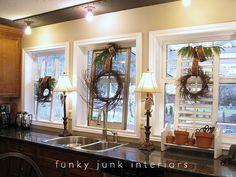 shutters & wreaths (Funky Junk Interiors)