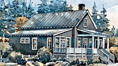 Block Island Cottage- Plan SL-1059 Coastal Living House Plans