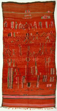 Rehamna carpet, Middle Atlas, Morocco, 20th century. Jürgen Adam Collection at The International Design Museum, Munich