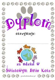 Dzień Kota – dyplomy – Przedszkolankowo Anna