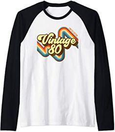 39th Birthday Vintage 80 limited edition born in 1980 funny Raglan Baseball Tee