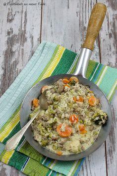 Experimente aus meiner Küche: Hackfleisch-Gemüse-Pfanne mit Reis