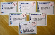 Blog Post from Science Stuff:  Metric Measurement Task Cards