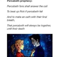 The Percabeth Prophecy  Art by Burdge. Dunno who edited it. Shared to us by Gabriel Cabrera.