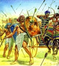 Egyptian Soldiers in Battle