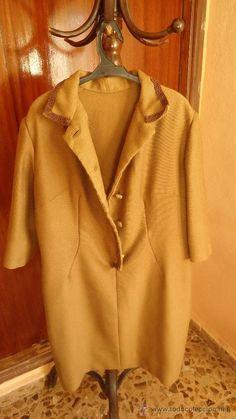 Vestido vintage de Señora años 50 de paño marrón,talla 42