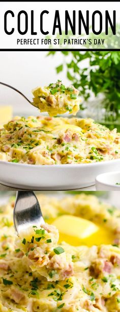 Creamy and richly seasoned mashed potatoes studded with cabbage and ham. This is amazing!