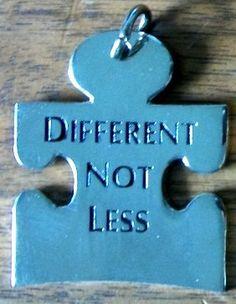 Autism Puzzle Piece Silver