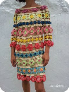 Crocheted Flower Dress: Inspiration!