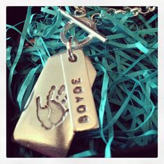 High Five pendant and name tag mini belcher necklace