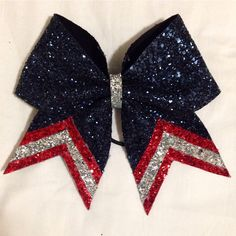 Captain America Cheer Bow by PurePoisonGrace on Etsy https://www.etsy.com/listing/220019437/captain-america-cheer-bow
