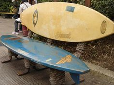 surfboard bench by allison sensei, via Flickr