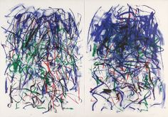Sunflowers II (diptych)    Joan Mitchell, American, 1925 - 1992  Sunflowers II (diptych), 1992  Lithograph  57 1/2 x 82 in  2011.16.6    Museum purchase, partial gift of Mary and Michael J. Tatalovich  Collection of the Haggerty Museum of Art, Marquette University