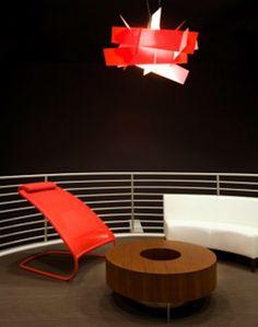 Funky Orange Seating Under Pendant Lamp Shades. #Pendantlight #Lighting http://www.shelights.com.au