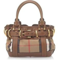 Burberry 'Baby Beaton' House Check Satchel Handbag