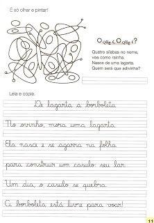 Espaço do Saber: Texto e caligrafia