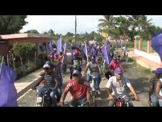 Sirilo de Los Santos encabeza enorme caravana recorre La Victoria