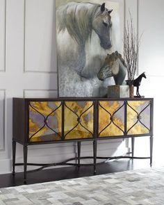 caracole Lorenzo Mirrored-Door Console