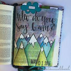 Bible Journaling by Kristen Wolbach @kristenwolbach | Mark 8:27-30