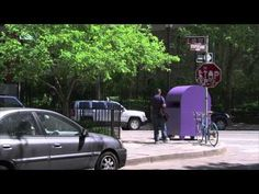 The #Purple People Greeter hits New York - YouTube