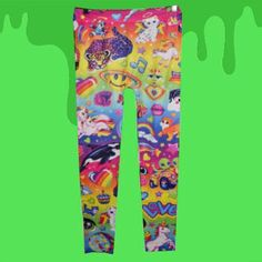 """alexandrametalclown: """" Totally forgot to post my lisa frank leggings I bought couple months ago! SO AMAZING! Havent worn them yet…have to make the perfect dress or top to go with it…hardcore searching..."""