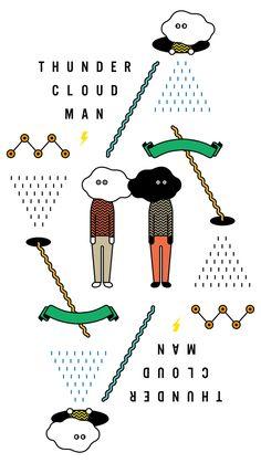 THUNDER CLOUD MAN 2  Art Art director cover Artwork Visual Graphic Mixer Composition Communication Typographic Work Digital