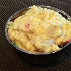Amish Potato Salad--I don't even LIKE potato salad, but I LOVE this! Impress your friends by bringing this to their BBQ. Easy recipe. Chop it all up. Mix together. Chill. Enjoy!