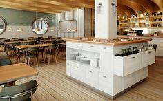 Restaurant #Hafen Kitchen Island, Restaurant, Bar, Furniture, Home Decor, New Years Eve, Island Kitchen, Decoration Home, Room Decor