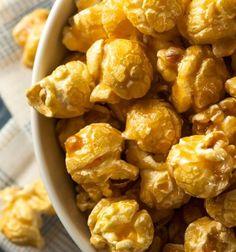Caramel Pumpkin Spice Popcorn Recipe with no refined sugar or artificial sweeteners.