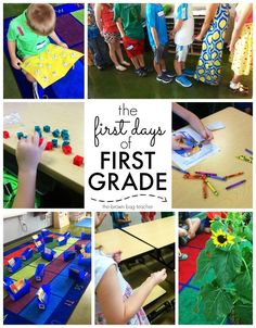 Our First Days of School in 1st Grade. FREE downloadable lesson plans - The Brown Bag Teacher First Day First Grade, First Grade Lessons, Teaching First Grade, First Grade Teachers, First Grade Classroom, Second Grade, Primary Classroom, First Week Of School Ideas, Beginning Of School