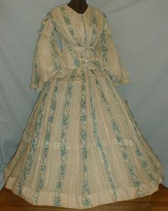 1850-60 cotton print maternity gown1 | Flickr - Photo Sharing!