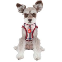 The Puppia Vogue Vest Dog Harness in Beige, is classy and sophisticated. Dog Harness, Vogue, Vest, Teddy Bear, Classy, Australia, Beige, Pattern, Animals