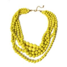 Canary Yellow Faceted Multi layered Pebbles Necklace ($29) ❤ liked on Polyvore featuring jewelry, necklaces, beading jewelry, yellow jewelry, beads jewellery, resin bead necklace and resin jewelry