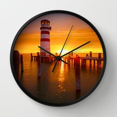 lighthouse Wall Clock by photoplace Lighthouse, Clock, Wall, Bell Rock Lighthouse, Watch, Light House, Walls, Clocks, Lighthouses
