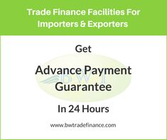 We provide Advance Payment Guarantee on behalf of suppliers/contractors to secure advance payment from buyers/developers. Contact us now to avail APG Advance Payment, Down Payment, Trade Finance, Bronze
