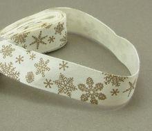 """5 jardas/lote 5/8 """"16mm decoração Do Casamento Do Natal Do Floco De Neve Impresso Fita de Algodão 040056086(China (Mainland))"""