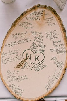 Wood Slices as Guest Book