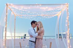 Light up your wedding with a twinkly canopy.