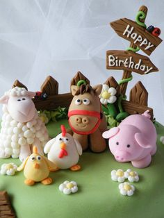 Farm Animals Cake Farm Animals Cake - Cake by CakeHeaven by Marlene - CakesDecor<br> Barnyard Cake, Barnyard Party, Farm Cake, Farm Animal Cakes, Farm Animal Party, Farm Animals, Fondant Toppers, Fondant Cakes, Cupcake Cakes