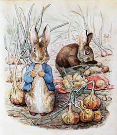 Peter And Benjamin In The Onion Patch Mural - Beatrix Potter| Murals Your Way
