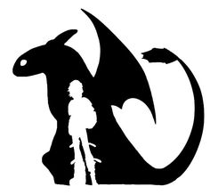 How to Train Your Dragon: Hicup & Toothless Small Decal