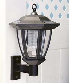 Copper solar lights wall mount carriage lanterns 7 led colors set take a look at this charcoal solar lantern wall mount today aloadofball Gallery